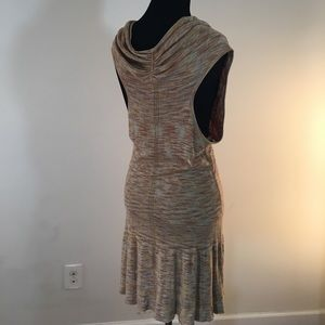 Anthropologie Dresses - Anthropologie cowl neck space dye dress size m